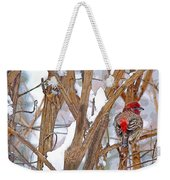 Alone In The Snow Storm Weekender Tote Bag