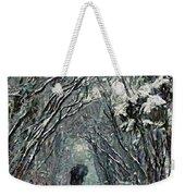 Alone In The  Winter Weekender Tote Bag