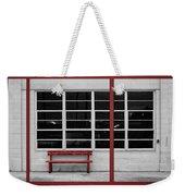 Alone - Red Bench - Windows Weekender Tote Bag