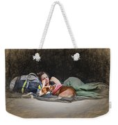 Alone With Her Dog Weekender Tote Bag