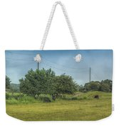 Along A Rural Road Weekender Tote Bag