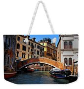Along The Canals Of Venice Weekender Tote Bag
