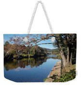 Along The River In Shelbourne Falls Weekender Tote Bag