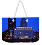 Along The Scioto At Night Weekender Tote Bag