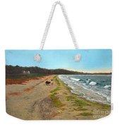 Along The Shore In Hyde Hole Beach Rhode Island Weekender Tote Bag