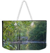 Along The Wissahickon In October Weekender Tote Bag