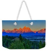 Alpenglow Across The Valley Weekender Tote Bag