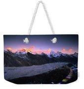 Alpenglow Lights The Summit Of Mt Weekender Tote Bag