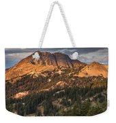 Alpenglow On Brokeoff Mountain Weekender Tote Bag