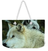 Alpha In The Background Weekender Tote Bag
