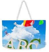 Alphabet Letters Weekender Tote Bag by Amanda Elwell