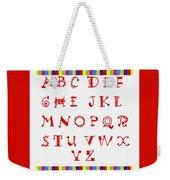 Alphabet Red Weekender Tote Bag