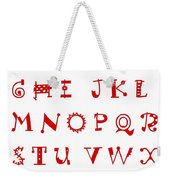Alphabet With Multicolor Weekender Tote Bag