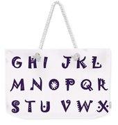 Alphabet With Purple Stripes Weekender Tote Bag