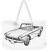 Alpine 5 Sports Car Illustration Weekender Tote Bag