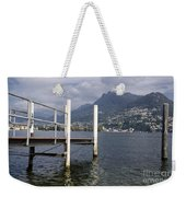 Alpine Lake And A Jetty Weekender Tote Bag