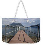 Alpine Lake With A Pier Weekender Tote Bag