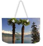 Alpine Lake With Island Weekender Tote Bag