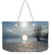 Alpine Lake With Snow Weekender Tote Bag