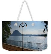 Alpine Lake With Street Lamp Weekender Tote Bag