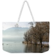 Alpine Lake With Trees Weekender Tote Bag