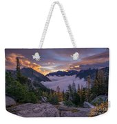 Alpine Lakes Morning Cloudscape Weekender Tote Bag