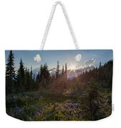Alpine Meadow Sunrays Weekender Tote Bag