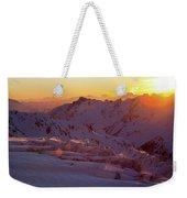 Alpine Sunset On High Alpine Glacier Weekender Tote Bag