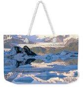 Alsek Glacier In St. Elias Mountains Weekender Tote Bag