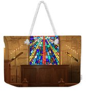 Altar At The Little Church In La Villita Weekender Tote Bag