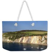 Alum Bay And The Coloured Sand Cliffs Weekender Tote Bag