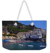 Amalfi Beach And Town Weekender Tote Bag