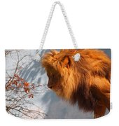Amazing Male Lion Weekender Tote Bag