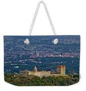Amazing Medvedgrad Castle And Croatian Capital Zagreb Weekender Tote Bag