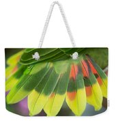 Amazon Parrots Feathers Abstract Weekender Tote Bag