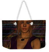 Amber Digital Portait Weekender Tote Bag