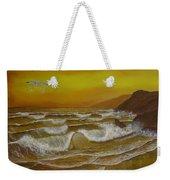 Amber Sunset Beach Seascape Weekender Tote Bag