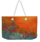 Amber Winter Weekender Tote Bag