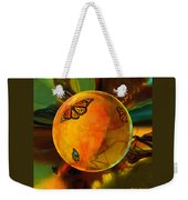 Ambered Butterfly Orb Weekender Tote Bag by Robin Moline