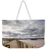 Amble Harbour And Village Weekender Tote Bag