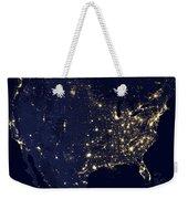 America At Night Weekender Tote Bag by Adam Romanowicz