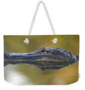 American Alligator Reflection Weekender Tote Bag