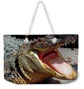 American Alligator Threat Display Weekender Tote Bag