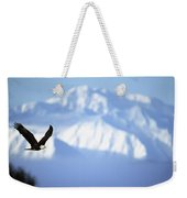 American Bald Eagle In Flight Weekender Tote Bag