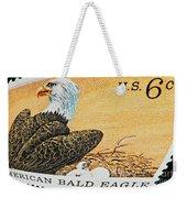 American Bald Eagle Vintage Postage Stamp Print Weekender Tote Bag
