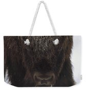 American Bison Portrait Weekender Tote Bag by Tim Fitzharris