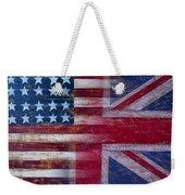 American British Flag Weekender Tote Bag by Garry Gay