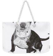 American Bull Dog As A Pup Weekender Tote Bag