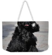 American Cocker Spaniel In Action Weekender Tote Bag