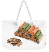 American Coins On White Background Weekender Tote Bag